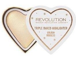 I ♥ Revolution Rozświetlacz wypiekany Golden Goddess 10 g