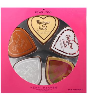 I ♥ Revolution Zestaw prezentowy 5 rozświetlaczy Heart Heaven