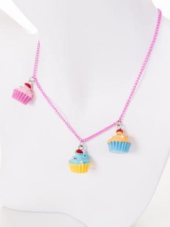 INCA Naszyjnik  z muffinkami dla dziewczynki
