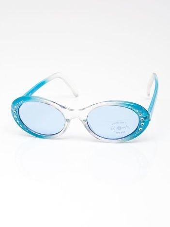 INCA Okulary dziecięce niebieskie z cyrkoniami