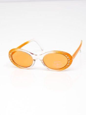INCA Okulary dziecięce pomarańczowe z cyrkoniami
