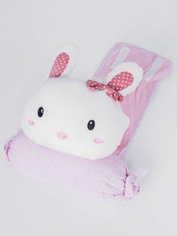 INCA Poduszka podróżna z króliczkiem przytulanką. Bardzo miła w dotyku.