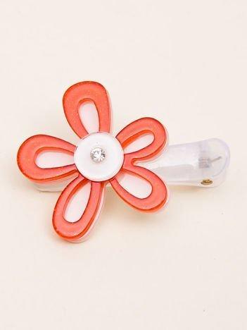 INCA Spinki do włosów kolorowe kwiaty z brokatem i cyrkonią komplet 2 szt.