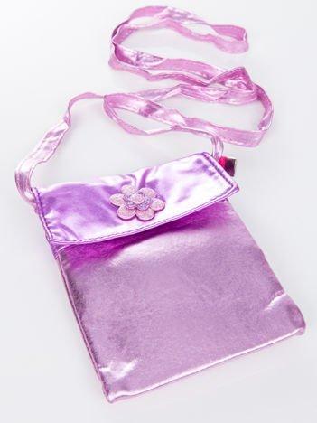 INCA Torebka / saszetka na ramię błyszcząca różowa