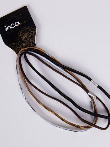 INCA Zestaw 4 szt. elastycznych opasek do włosów