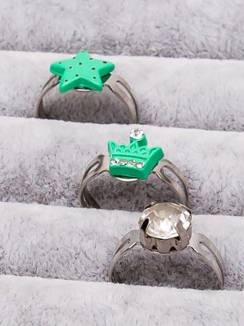 INCA Zestaw pierścionków dla dziewczynki 3 szt.