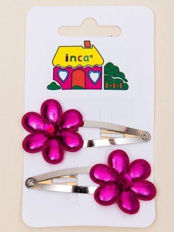 INCA Zestaw spinek do włosów 4,5 cm z opalizującym kwiatem 2 szt.