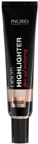 Ingrid LIQUID HIGHLIGHTER Rozświetlacz w płynie BEŻOWY 10 ml