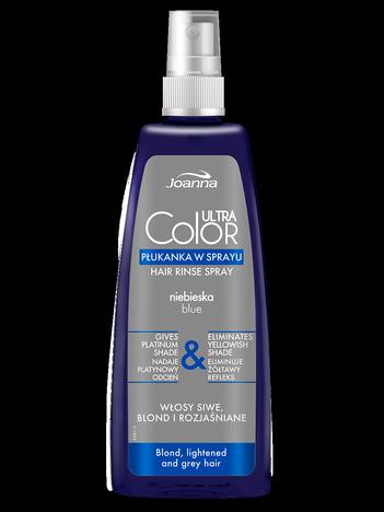 JOANNA Ultra Color System Niebieska płukanka do blondów w sprayu 150 ml