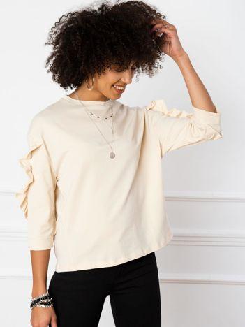 Jasnobeżowa bluzka Sarah
