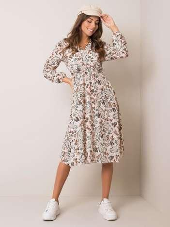 Jasnobeżowa sukienka Gianni SUBLEVEL