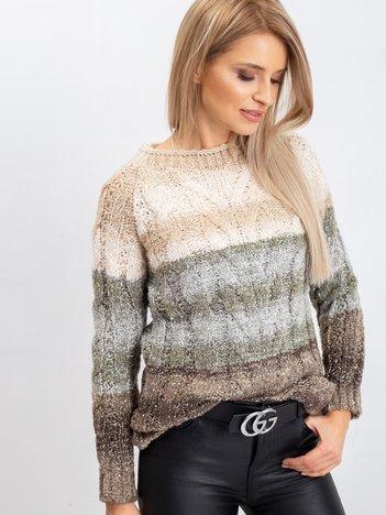 Jasnobeżowy sweter Nevermind