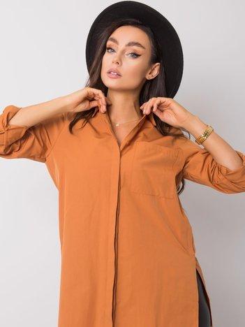 Jasnobrązowa koszula Miranda RUE PARIS