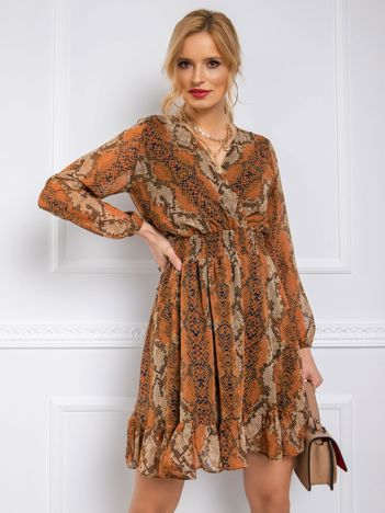 Jasnobrązowa sukienka Valerie RUE PARIS