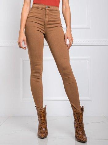 Jasnobrązowe spodnie Clementine RUE PARIS