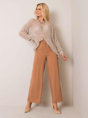Jasnobrązowe spodnie Kathleen RUE PARIS