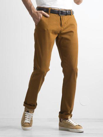 Jasnobrązowe spodnie męskie