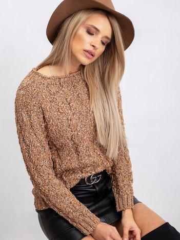 Jasnobrązowy sweter Erika