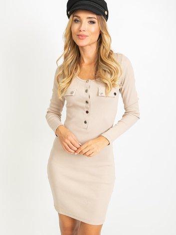 Jasnokawowa sukienka Juliet