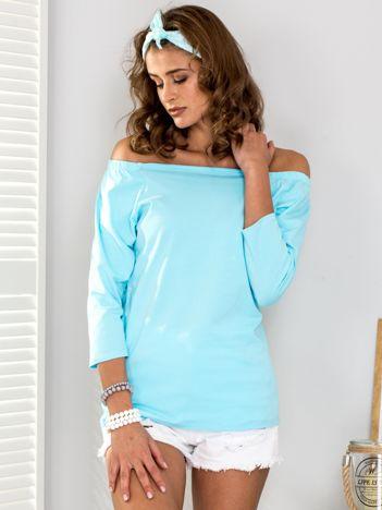Jasnoniebieska bluzka hiszpanka