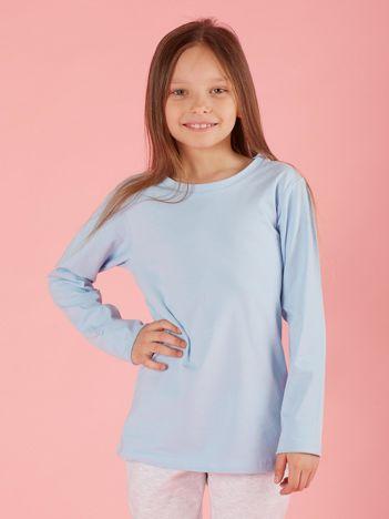 Jasnoniebieska dziewczęca bluzka basic