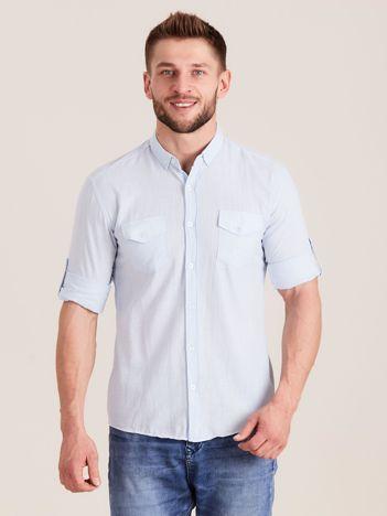 Jasnoniebieska koszula męska z bawełny