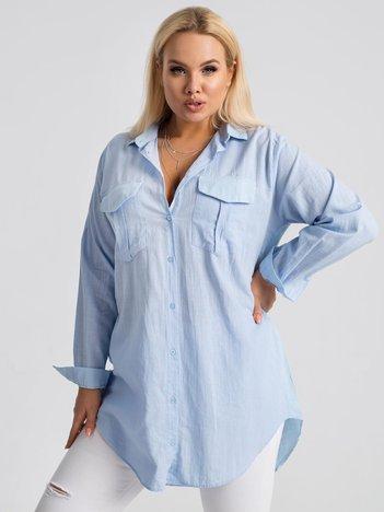 Jasnoniebieska koszula plus size Miranda RUE PARIS