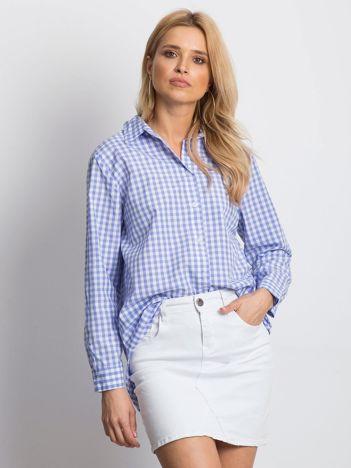 Jasnoniebieska koszula w kratę