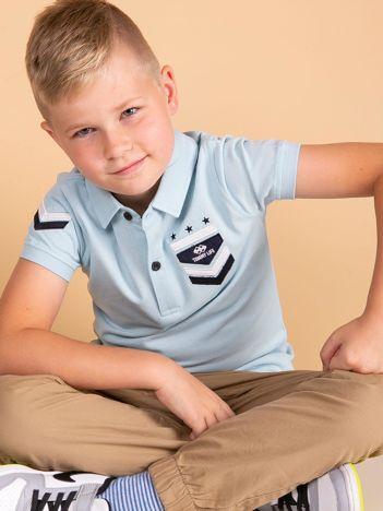 Jasnoniebieska koszulka polo dla chłopca TOMMY LIFE