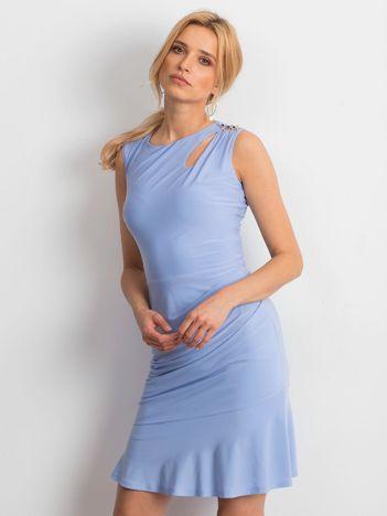 Jasnoniebieska sukienka Handle