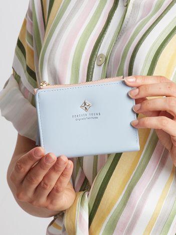 Jasnoniebieski mały portfel damski