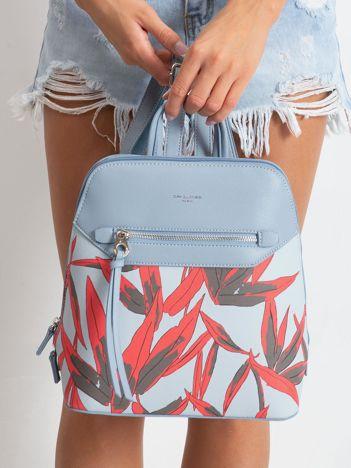 Jasnoniebieski plecak z nadrukiem