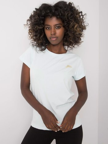 Jasnoniebieski t-shirt damski Eudice FOR FITNESS