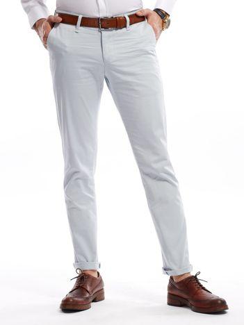 Jasnoniebieskie bawełniane spodnie męskie