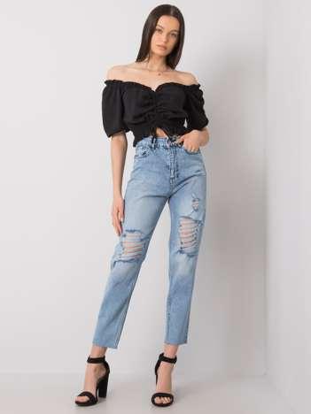 Jasnoniebieskie jeansy mom Leal