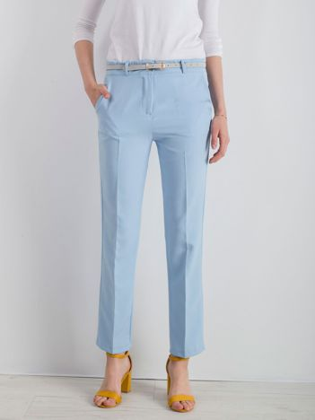 Jasnoniebieskie klasyczne spodnie