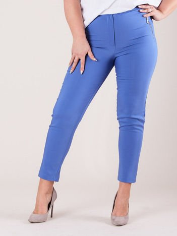 Jasnoniebieskie spodnie z suwakami PLUS SIZE