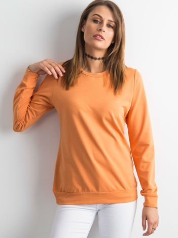 Jasnopomarańczowa bluza damska basic