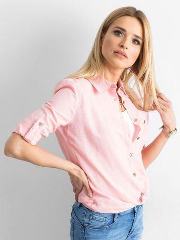 Jasnoróżowa bawełniana koszula