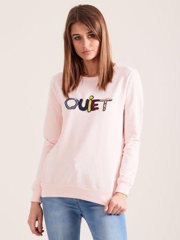 Jasnoróżowa bluza QUIET