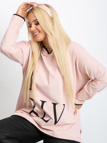 Jasnoróżowa bluza plus size Skip