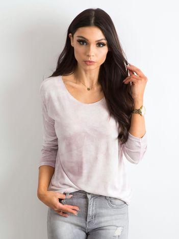 Jasnoróżowa bluzka damska z długim rękawem