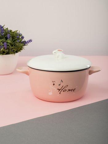 Jasnoróżowa ceramiczna miska