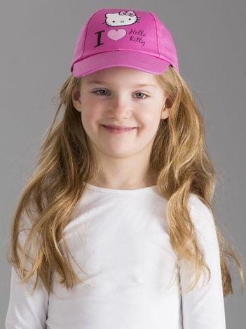 Jasnoróżowa czapka z daszkiem dla dziewczynki HELLO KITTY