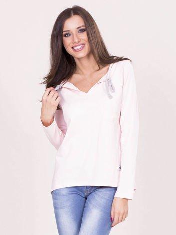 Jasnoróżowa damska bluzka
