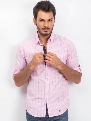 Jasnoróżowa męska koszula Bounjour