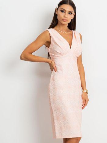 Jasnoróżowa sukienka Lalima