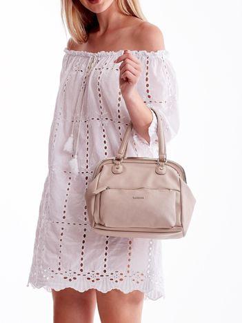 Jasnoróżowa torba damska vintage