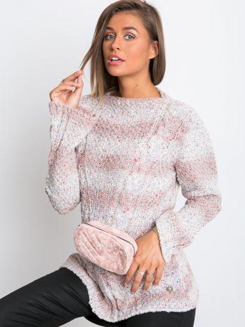 Jasnoróżowy sweter Dancefloor