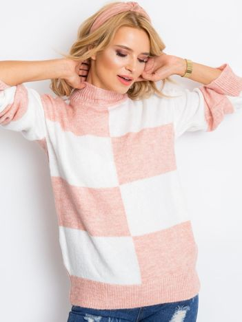Jasnoróżowy sweter Francesca